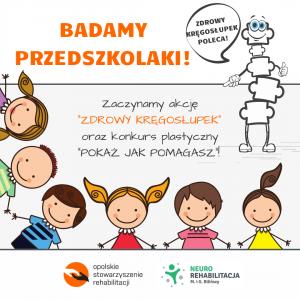 ZDROWY KREGOSLUPEK- badamy przedszkolaki!